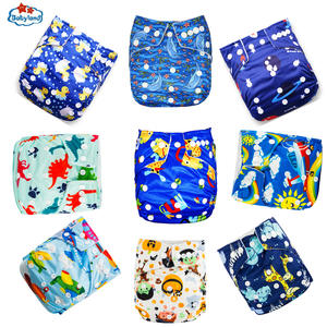 BABYLAND Washable Nappy Pocket-Diapers Eco-Friendly Waterproof 41%Discount Day Night
