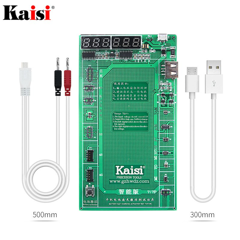 Kaisi 9208 Phone Battery Activation Board Plate Charging USB Cable Jig For All Smart Phone Circuit Test