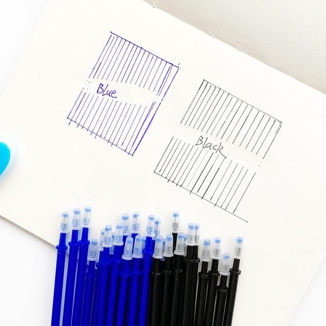 20Pcs/lot Magic Erasable Pen Refills Rod 0.5mm Office Gel Pen Washable Handle Blue Black Ink Pen School Writing Stationery 1