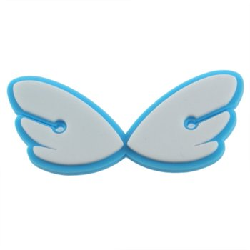 Cute Cartoon Angel wings soft rubber headset bobbin winder cable Cord Holder For Earphone image