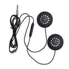 Heißer 3C Motorcycle Helm Headset Lautsprecher 3,5mm Klinke Verdrahtete Kopfhörer Kopfhörer Kopfhörer mit HD Mikrofon für Motorrad Helme