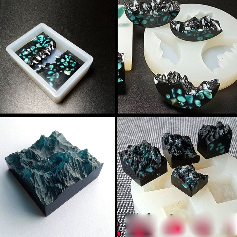Silicone Mold Resin DIY Snow Mountain Mold Micro Landscape Epoxy Resin Molds