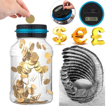 2.5L Piggy Bank Counter Coin Electronic Digital LCD Counting Money Saving Box Jar Coins Storage For USD EURO GBP