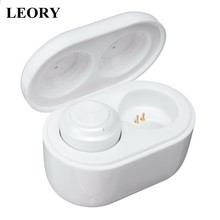 LEORY Mini TWS Wireless bluetooth 5.0 Earphone Auto Pairing Button Control Earbuds HD Wireless HiFi Stereo Denoise Music Headset(China)