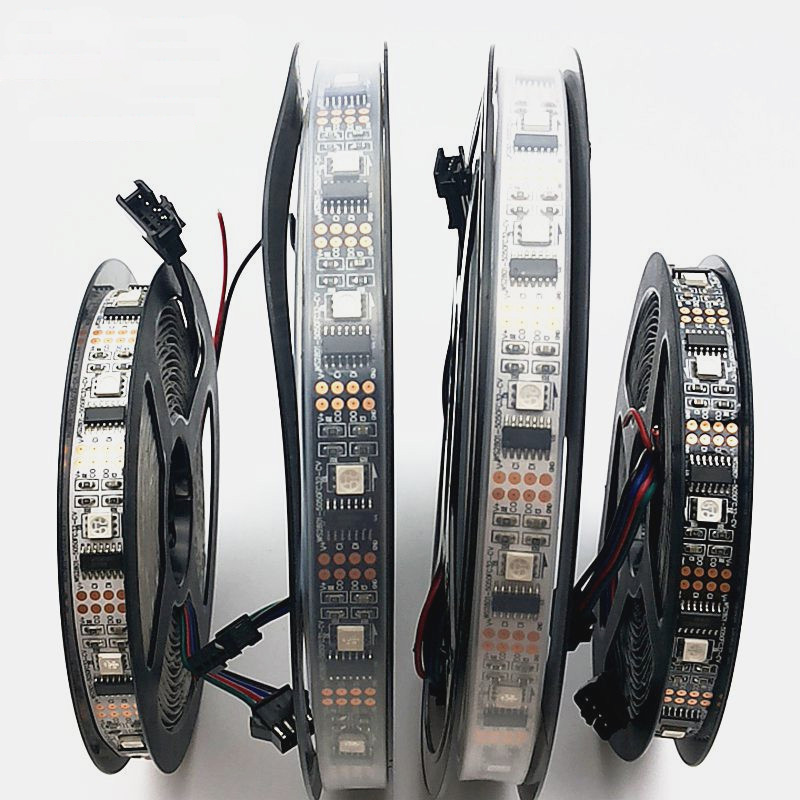 1m/3m/5m WS2801 Magic RGB IP67 DC5V Individually Addressable Full Color WS2801 Chip LED Strip 32LEDs/M