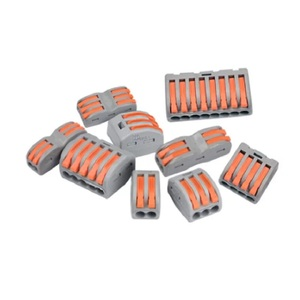 Универсальный кабельный провод с разъемами 222 типа, быстрое домашнее компактное подключение к проводу, нажимная Клеммная колодка, 1/5 шт., Кле...