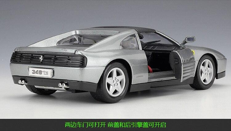 Bburago-veículo colecionável ferrari 488gtb 458 e 348ts,