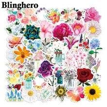 Ca1446 50 шт/компл цветы и розы скрапбукинг наклейка для гитары