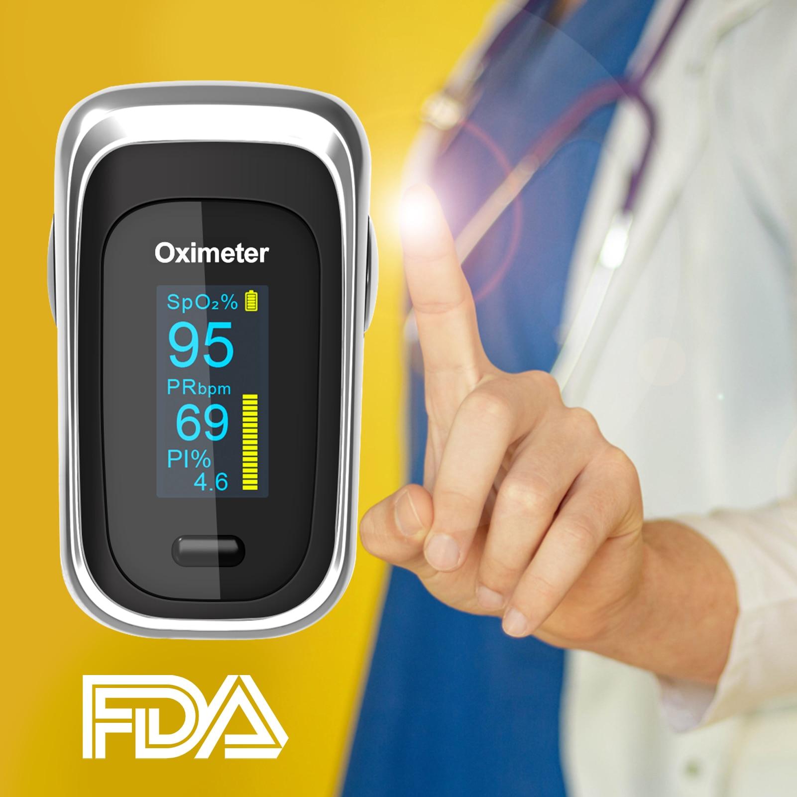 Пульсоксиметр профессиональный, прибор для измерения пульса и уровня кислорода в крови, с OLED-экраном