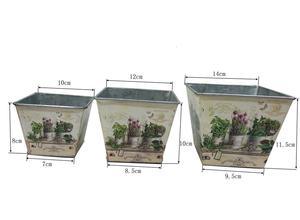 Image 2 - 12 juegos por lote, D14XH11.5CM, florero pequeño, macetas, centro de mesa de hierro para Pascua y decoración del hogar al por mayor