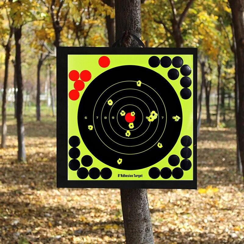 10pcs Splash Flower Target 8-Inch Pistol Binders Adhesive Lightweight Shoot Target Durable Reactivity Aim For Rifle Shoot Target