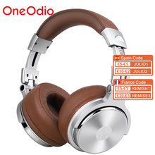 Oneodio المهنية ستوديو DJ سماعة رأس بمايكروفون فوق الأذن السلكية HiFi شاشات سماعات طوي سماعة الألعاب للكمبيوتر