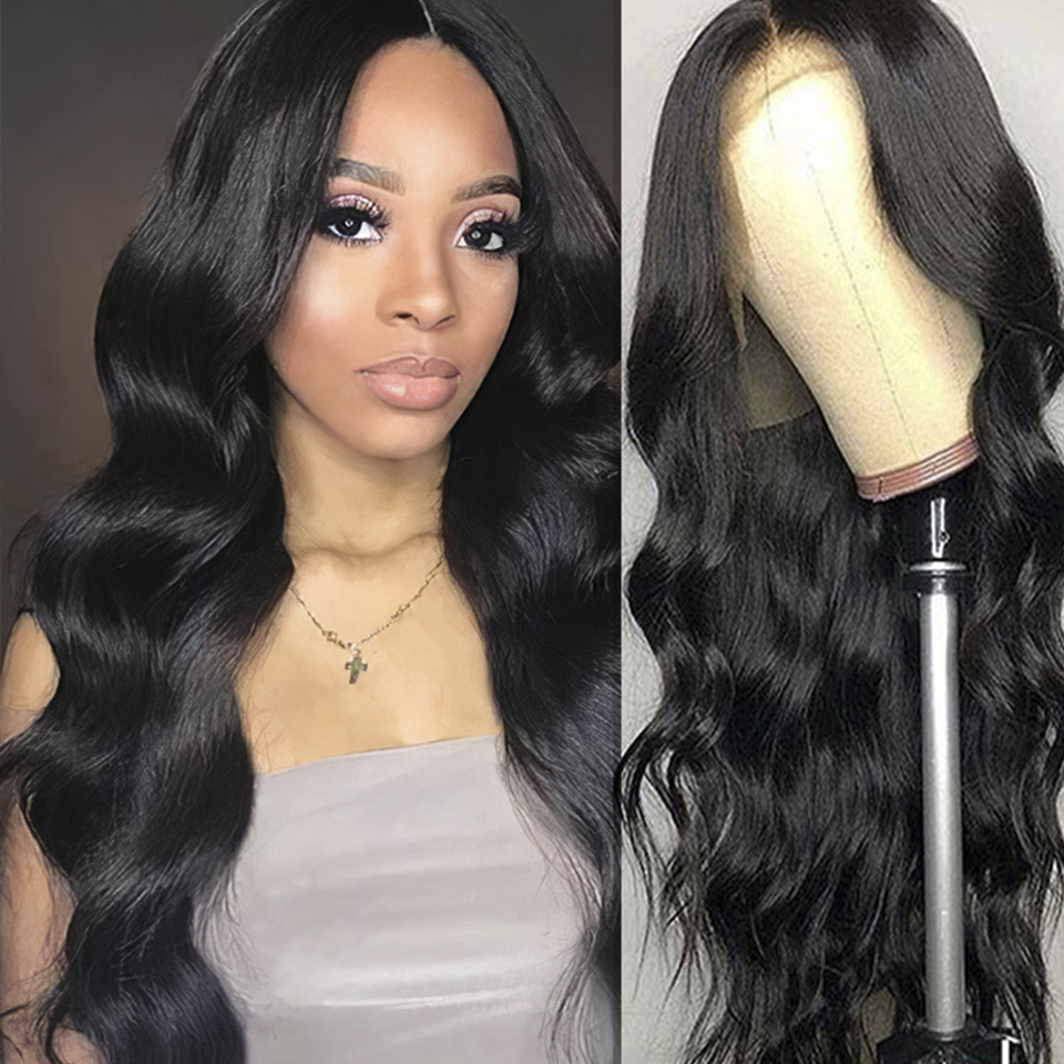 13x4 Body Wave Lace Front Human Hair Wigs For Black Women Pre Plucked Hairline With Baby Hair Low Ratio Remy Hair 130% Density