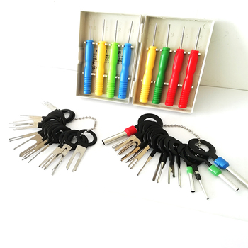 Car Plug Terminal Remove Tool Car Electrical Wiring Crimp Connector Pin Repair Extractor Kit 18pcs auto car plug circuit board wire harness terminal extraction disassembled crimp pin back needle remove tool kit