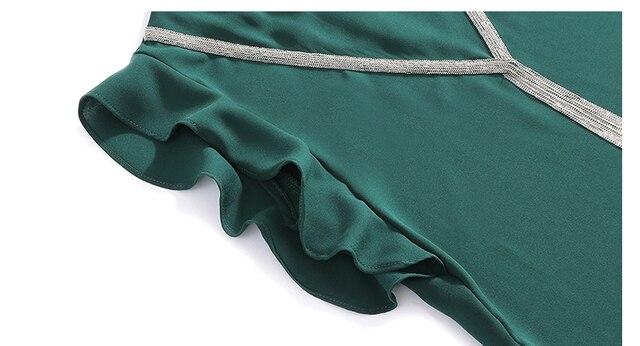 Blouse Women Blusas Mujer De Moda 2021 Tassel V-neck Chiffon Blouse Shirt Women Tops Summer Short Sleeve Blouse Tops Shirts D190 6