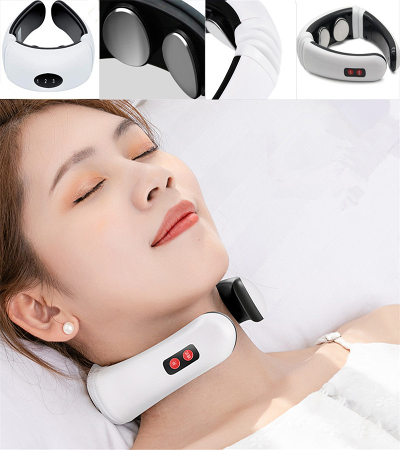 Multiple Modes Electric Neck Massager & Pulse Back Power Control Far Infrared Heating Pain Relief Tool