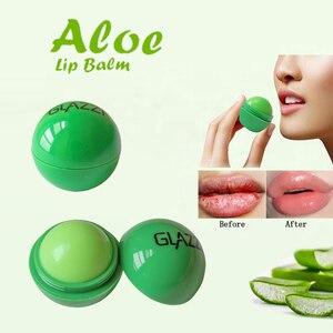 Moisturizer Ball Lip Balm Lipgloss Aloe Vera Lipstick Green Spherical Long-Lasting Lip Balm Jelly Lip Gloss Lipstick Anti Aging