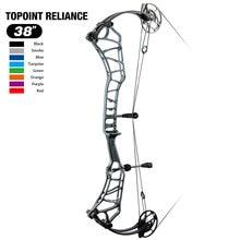 Toppoint – arc composé de cible de tir à l'arc, axe 38 '', poids de traction 40-50lb/50-60lb, longueur de traction 24.5-27.5''/26.5-30.5''