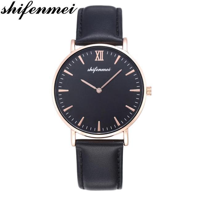 Shifenmei marca superior de lujo relojes de mujer de moda de cuero deportes reloj de cuarzo señoras Casual de negocios reloj de pulsera reloj femenino