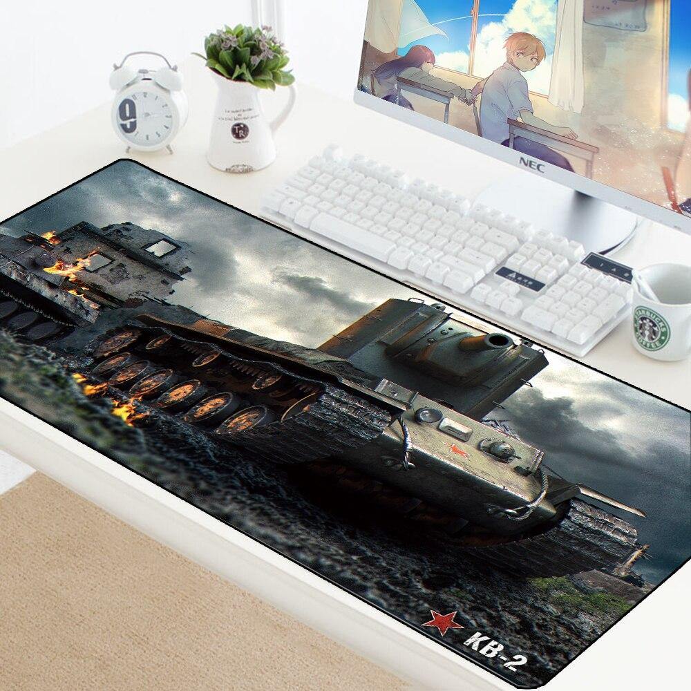 World Of Tanks Mouse Pad Large Anti-slip Gamer Gaming Mousepad Keyborad Mouse Mat For Laptop Waterproof Padmouse Desk Protection