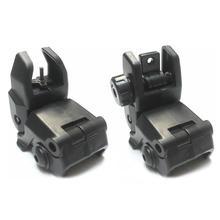 2 шт. Тактический BUIS M4 AR15 AR-15 передний задний прицел флип Быстрый переход резервный прицел для Пикатинни
