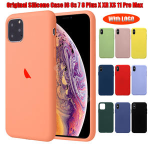 Ultrathin Original Silicone Phone Case For iPhone 6 6s 7 8 Plus X XR XS Max Back With