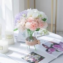 Bride Bouquet Artificial-Flowers Diy-Decoration Wedding-Centerpieces Hydrangea Stage-Vases