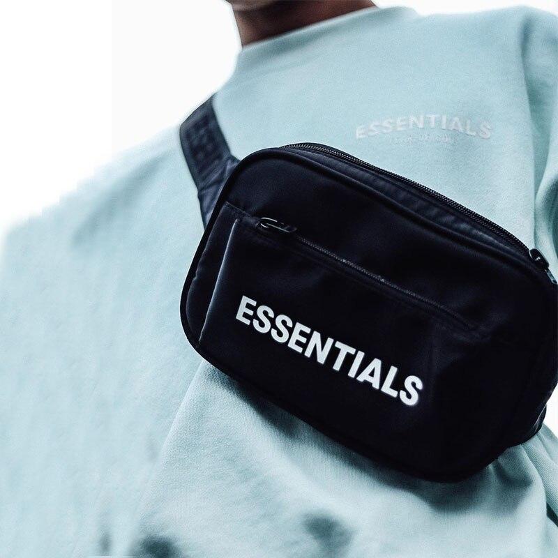 Men Canvas Belt Bag Unisex Fanny Pack Trendy Hip-hop Waist Bags Men Casual Chest Bag Travel Bum Packs Male Small Crossbody Pack