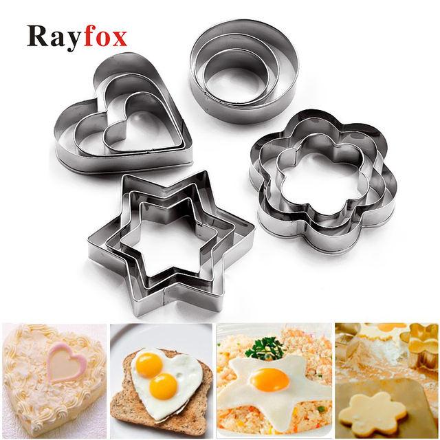 Star Heart Flower Cookie Cutter Egg Baking Kitchen Accessories