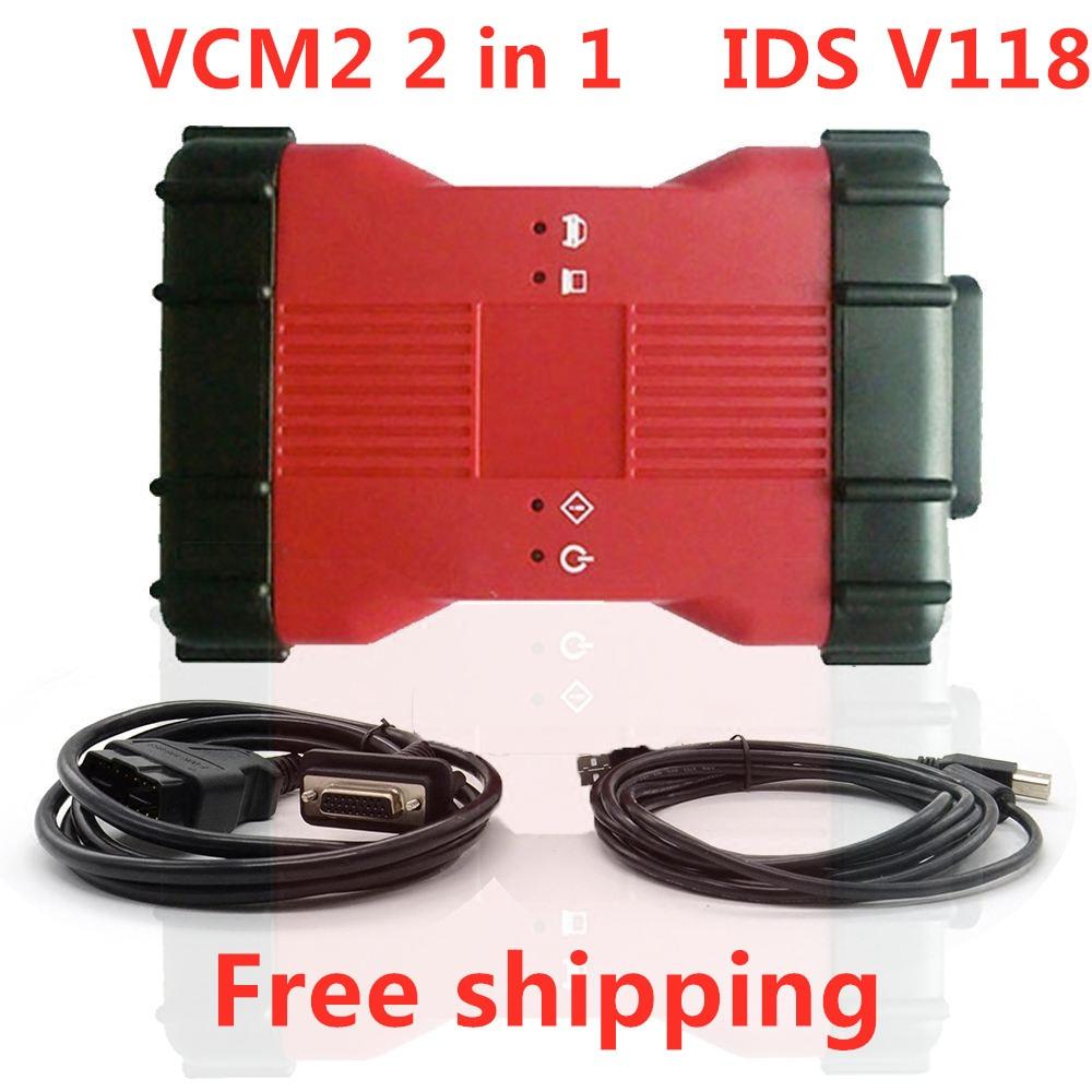 Диагностический инструмент VCM2 2 в 1 для Ford и Mazda IDS V118 VCM II