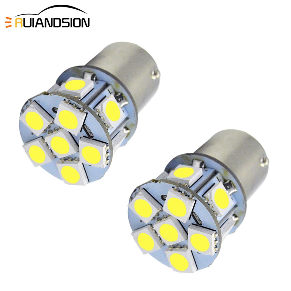 2 pcs de alta qualidade dc 6 v 12 v 24 1157 bay15d ba15d lampada led