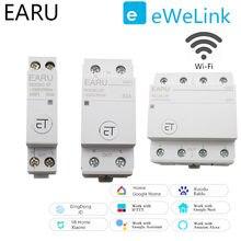 WiFi devre kesici 1P 2P 4P zaman zamanlayıcı anahtarı röle akıllı ev ev uzaktan kumanda ses kontrolü amazon Alexa Google ev için