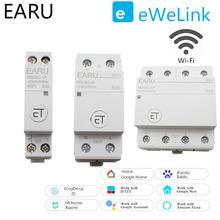WiFi Circuit Breaker 1P 2P 4P Time Timer Switch Relay Smart Home House Remote Control Voice Control for Amazon Alexa Google Home