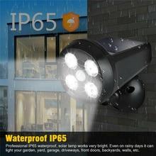 Led Solar Lamp PIR Motion Sensor Lights 3-5 Meter IP65 Waterproof 4Leds Light For Outdoor Wall Street Garden Decoration Lighting