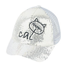 Cute Kids Baby Baseball Cap Children Hip Hop hat Fashion Cute Cartoon Cat Student Paillette Hats Baseball Cap Sunhat for 2-8 T(China)