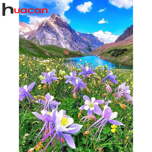 Huacan 5d Diamond Painting Landscape Nature Full Square/Round Drill Diamond Embroidery Sale Mountain Handicraft Home Decor