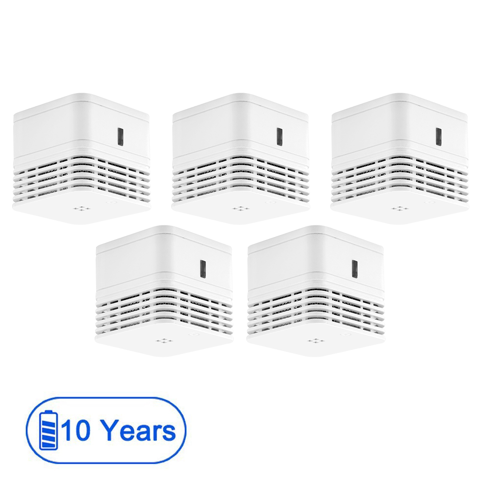 CPVan 5pcs/Lot Smoke Detector EN14604 CE Certified Fire Detector 10 Years Battery Fire Alarm 85dB Photoelectric Detector Sensor