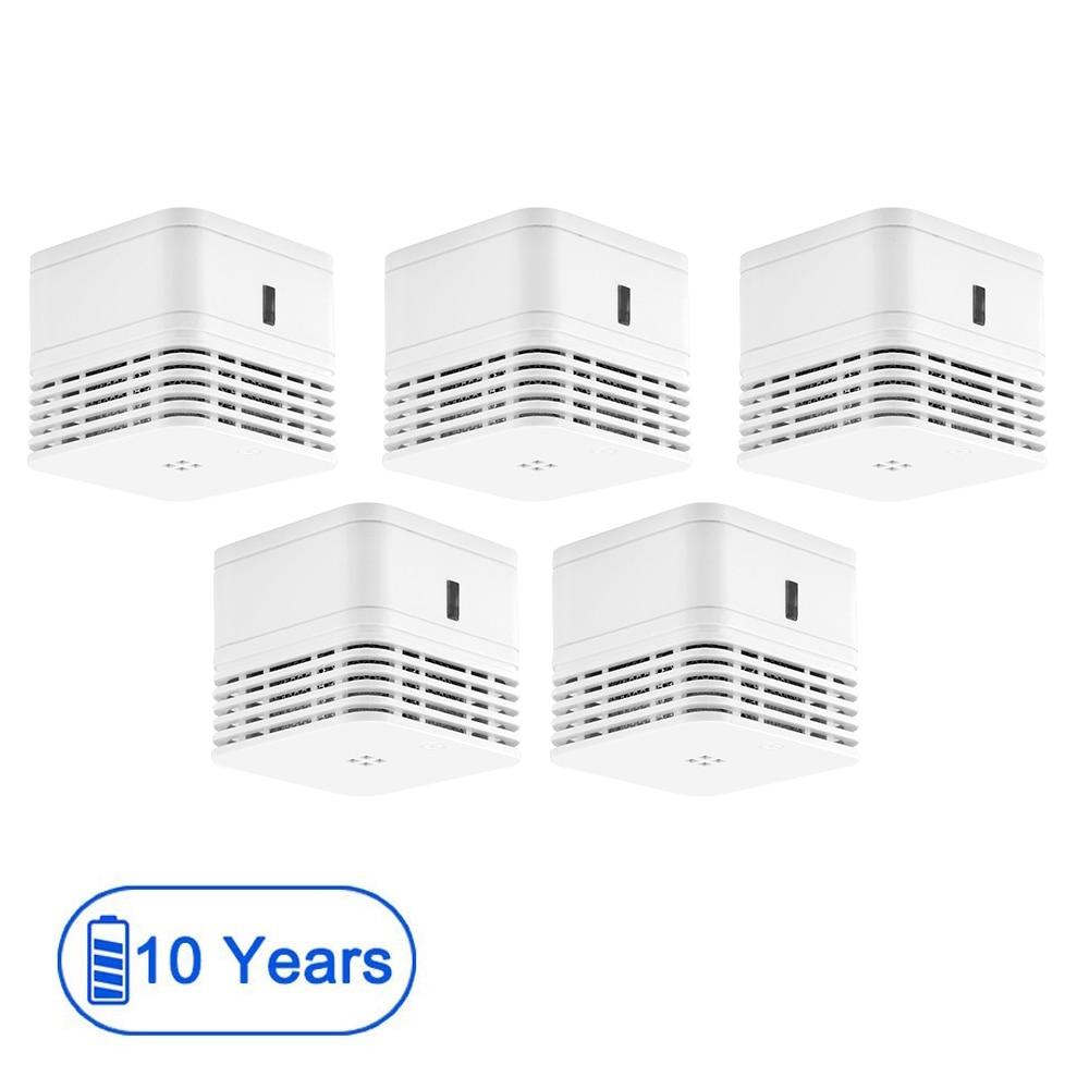 CPVan 5pcs/Lot Smoke Detector EN14604 CE Certified Fire Detector 10 Years Battery Fire Alarm 85dB Photoelectric Detector Sensor