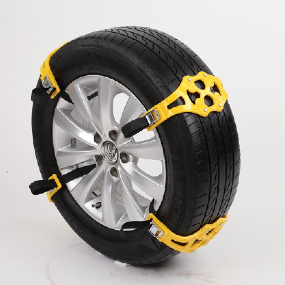 4 teile/satz Auto Reifen Winter Fahrbahn Sicherheit Reifen Schnee Einstellbar Anti-skid Sicherheit Doppel Snap Skid Rad TPU Ketten