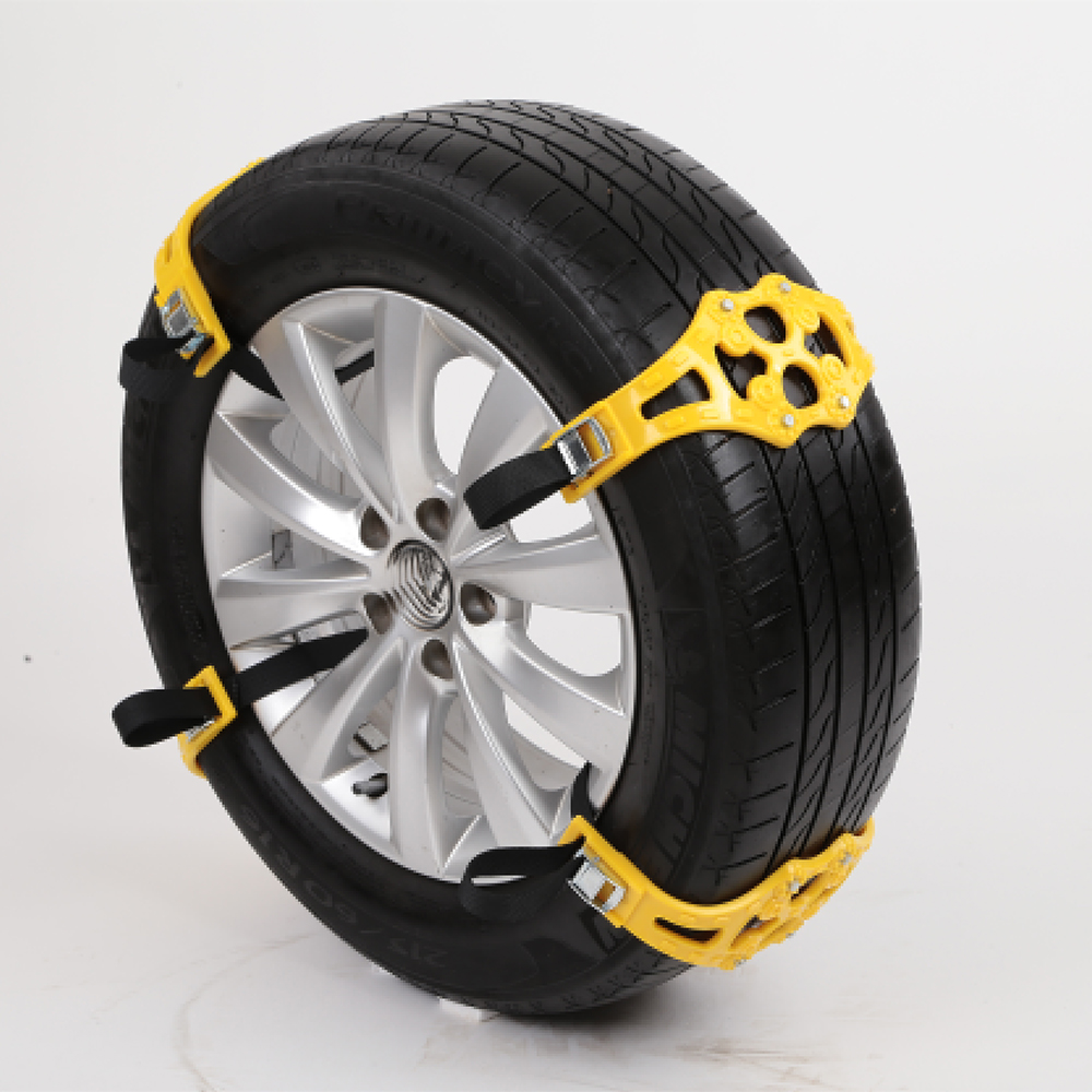 4pcs/set Car Tyre Winter Roadway Safety Tire Snow Adjustable Anti-skid Safety Double Snap Skid Wheel TPU Chains