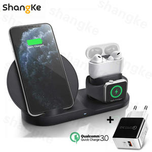 Dock-Station Fast-Charging Airpods-Pro Apple XR Wireless-Charger iPhone 11 3-In-1