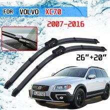 Para a Volvo XC70 2007 2008 2009 2010 2011 2012 2013 2014 2015 2016 Acessórios Do Carro Da Frente Brisas Escovas de Escovas Cortador