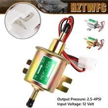 Bomba de combustible eléctrica de 12V, cable de fijación de perno de baja presión, HEP-02A Universal de gasolina y diésel para carburador de coche, motocicleta y ATV