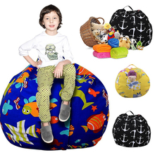Carrier Handle Bean Bags Storage Bags Plush Toy Organizer Stuff Lounger Cover Fabric Chair Sitting Sofa filling is not included
