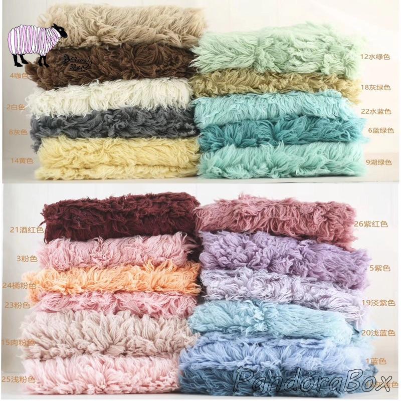 Flokati Wool Fur Blanket Props Baby