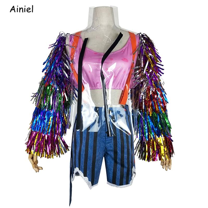 2020 Movie Birds Of Prey Cosplay Harley Quinn Costumes Hanori Women Sexy Suit Shorts Ribbon Jacket Halloween Party Adult Girls Movie Tv Costumes Aliexpress