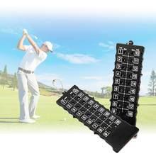 Golf training aids acessórios marcador de golfe 18 buracos golfe curso putt pontuação cartão contador indicador com chave preto novo