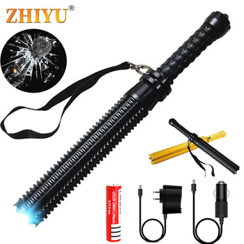 Tactical Truncheon Flashlight Telescopic Self Defense Torch Powerful Portable XML Q5 Zoomable LED Lantern Rechargeable18650 Lamp sitemap 97 xml