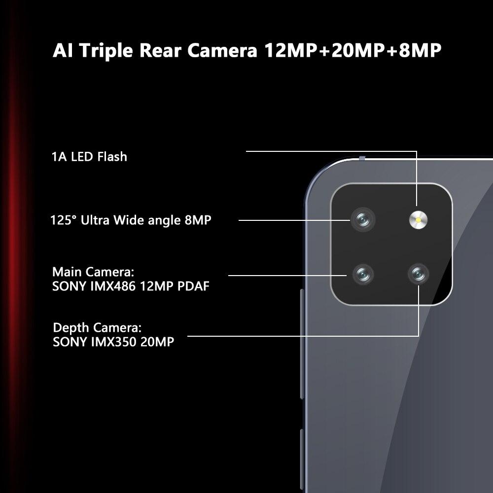"""Cubot X20 Pro 6GB + 128GB AI Modalità Triple Macchina Fotografica 6.3 """"FHD + Waterdrop del Cellulare Dello Schermo di Android 9.0 Viso ID Cellura Helio P60 4000mAh"""