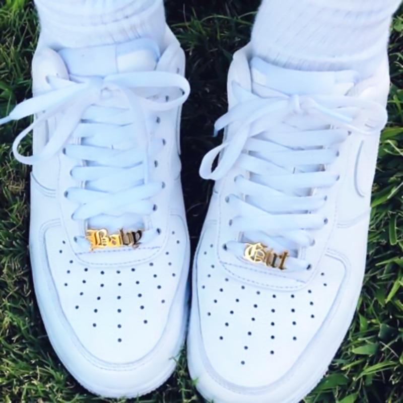 Custom Name Shoe-buckle Personalized Jewelry Stainless Steel Nameplate Buckie Gold Charm Fashion Bijoux